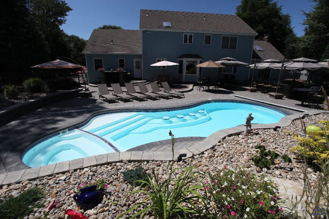 Small Fiberglass Pools Bella Blue Pools Ottawa Lake Mi